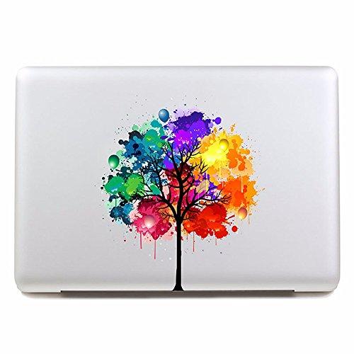 """2pcs extraíble árbol los cinco colores y ordenador portátil tablet pegatina pegatina para laptop, 260x270mm,16"""""""
