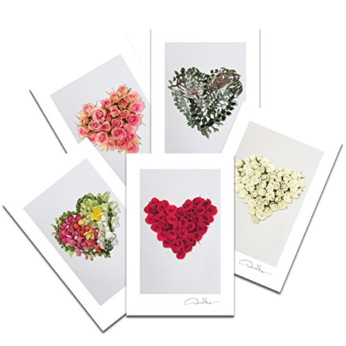 Love - Flower Heart Postcard Prints. Fathers Day. 4x6, 2 each of 5. Heart Series. Unique Birthday, Christmas & Valentines Day Gifts. Best Quality Gifts for Men, Women & Kids. Great for Mother's Day.