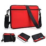 Kroo uneversal Messenger/Sleeve Tasche mit Zubehör Tasche und Schulterriemen passt für Samsung Ativ Tab 5Tablet rot rot