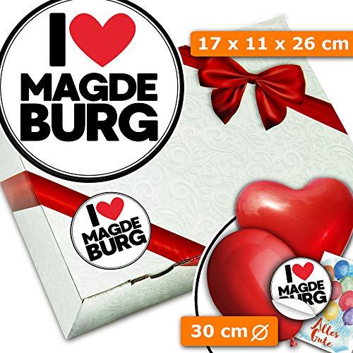 I love Magdeburg + Geschenk Verpackung + Magdeburg Geschenk