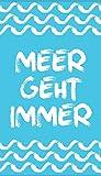 jilda-tex Strandtuch Meer Geht Immer 90x180cm