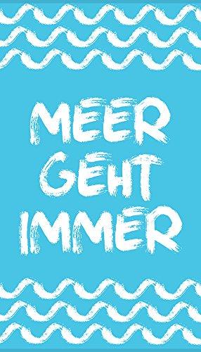 "jilda-tex Strandtuch ""Meer Geht Immer"" 90x180cm"