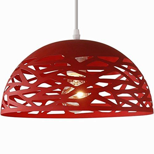 Restaurant Kronleuchter Modernen Minimalistischen Creative Bar Kronleuchter Single Lampenschirm Esszimmer Runden Tisch Kronleuchter (Farbe: Rot) (Runde-tisch-kronleuchter)
