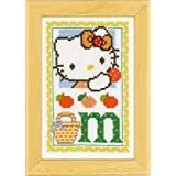 Vervaco - Kit para cuadro de punto de cruz, diseño de Hello Kitty con la letra M, multicolor