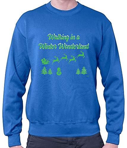 HARIZ Herren Pullover Walking In A Winter Wonderland Weihnachten Weihnachts Familie Winter Plus Geschenkkarten Royal Blau XL