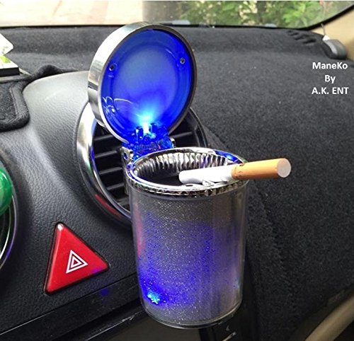 ManeKo Designer Cigarette Car Ash Tray/Ashtray with Blue LED Light & Rainbow Colors for Mahindra XUV 500 All Models & Types  available at amazon for Rs.284