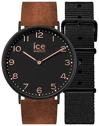 Ice-Watch - CITY Leyton - Women's wristwatch with leather strap + extra nylon strap - 001375 (Small) -