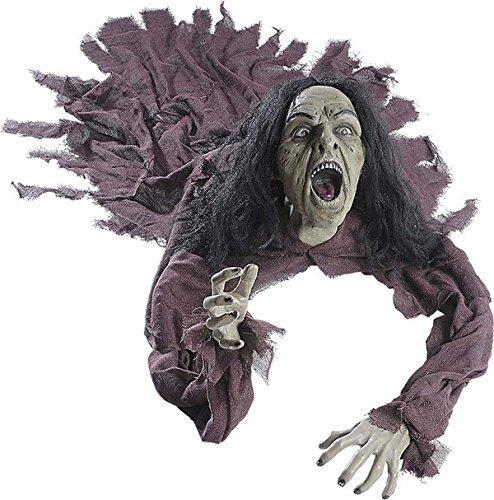 Décoration sorcière sonore et lumineuse 160 cm Halloween - taille - Taille Unique - 229866