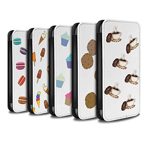 Stuff4 Coque/Etui/Housse Cuir PU Case/Cover pour Apple iPhone X/10 / Ananas Design / Morceaux Nourriture Collection Pack 8pcs