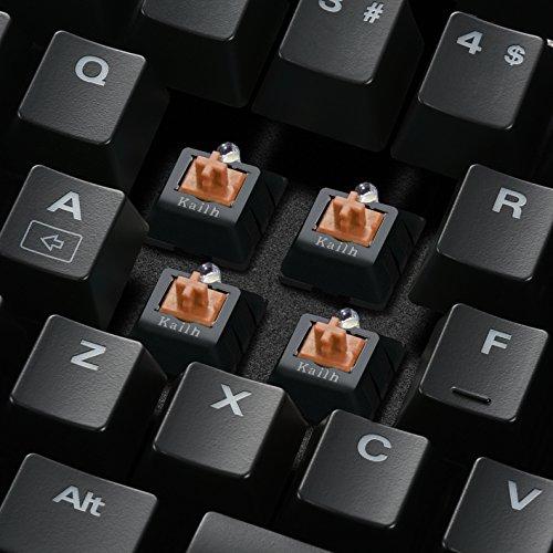 Sharkoon Skiller Mech SGK2 Brown Mechanische Gaming Tastatur (mit weißer Beleuchtung, braune Schalter, TKL, Tenkeyless) schwarz - 3