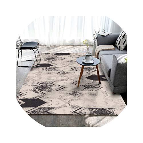 Nordic Style-Teppiche für Wohnzimmer Heim Schlafzimmer Teppiche Couchtisch Kurz Bereich Teppich Kinderspielmatte Dekor, YU-17,50X80CM -