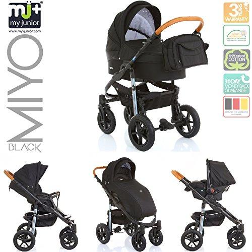 My Junior+® Miyo Kombikinderwagen 3 in 1-3 Years Guarantee-Autositz (11-Teile-Set)