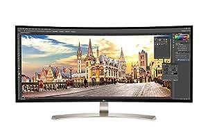 LG 38UC99-W 95,25 cm (37,5 Zoll) Monitor (HDMI, USB-C, USB 3.0, 1ms Reaktionszeit, 3840 x 1600, höhenverstellbar)