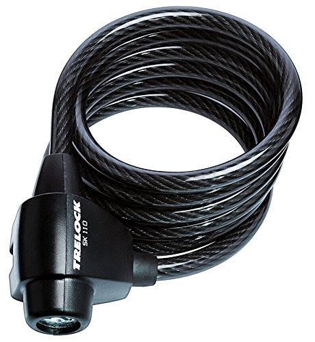 Trelock Spiralseilschloss SK 110/180/8 ZK 122, Schwarz, 8002083