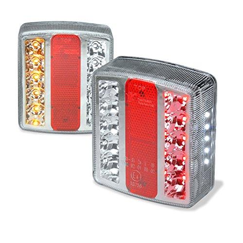 Preisvergleich Produktbild LED Anhänger Rücklicht Rückleuchten Satz Licht Leuchte Anhängerbeleuchtung Wohnwagenbeleuchtung 12 Volt mit E-Prüfzeichen