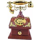 HorBous Clásico de estilo europeo a la antigua retro cosecha de talla teléfono teléfono caja de música joyero musical - 5 estilos (4)
