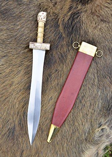 Parazonium - Griechisch-Römisches Kurzschwert mit Scheide echt Stahl Griechen Römer Antike -