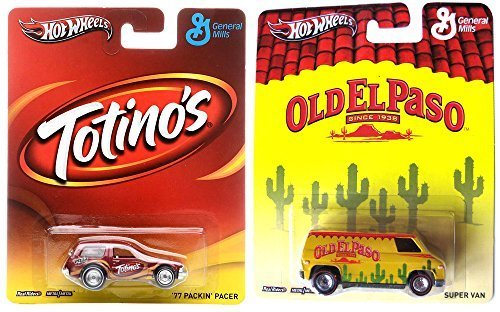 totinos-old-el-paso-hot-wheels-2-car-set-pop-culture-general-mills-pacer-van-in-protective-cases-by-