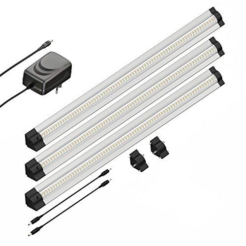 parlat LED Unterbau-Leuchte SIRIS, dreieckig, je 50cm, 400lm, warm-weiß, 3er Set