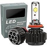 AMBOTHER 2 x H11 / H8 / H9 Ampoules Phare LED Spot Eclairage Auto avec LED Kit de Conversion LED Lampe Voiture 60W 7200LM 6000K