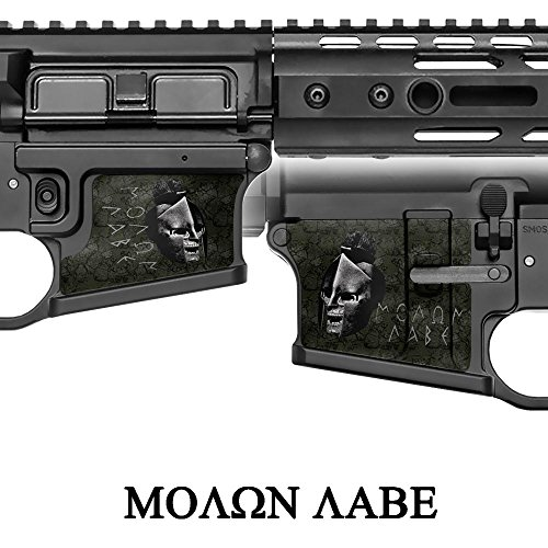 gunskins-magwell-piel-especialidad-vinilo-para-ar-15-m4-receptores-inferior-molon-labe-black