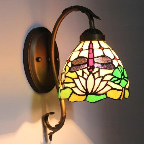 Uncle Sam LI - Continental lotus libellule paroi chaude chevet de chambre miroir de la lampe balcon avant allée allume la lampe