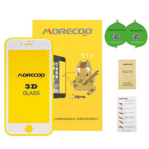 cristal templado iphone 7 plus,MORECOO 3D Protector de pantalla de cristal para...