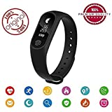 COKU M2 Fitness Band Smart Bracelet Fitband Fitness Band With Heart Rate Monitor OLED Display Bluetooth 4.0 Waterproof Sports Health Activity Fitness Tracker Bluetooth Wristband Pedometer Sleep Monitor Black Waterproof Smart Bracelet | Call Reminder | Clo