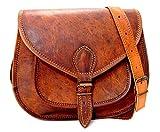 Handmade Genuine Leather Ladies Satchel Purse Handbag Vintage Cross-body Bag