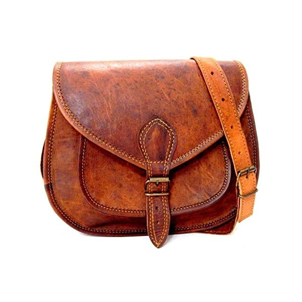 Handmade Genuine Leather Ladies Satchel Purse Handbag Vintage Cross-body Bag 51 2wnDvzQL