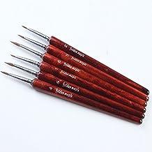 Detalle arte pintura pinceles para acrílico, acuarelas pintura. Sable artista brochas sintéticas fácil arte suministros pinceles Set