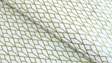 Stof A/S Baumwollstoff 112 cm (Weiß - Goldene Geometrie)