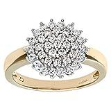 Citerna Damen-Ring 9 Karat (375) Gelbgold Gr. 52 (16.6)  37 Diamanten PR4663 U