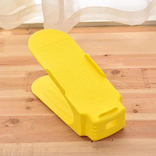 Gelb Schrank Veranstalter (Schuhregal, mamum bunten Display Rack Schuhe Veranstalter platzsparend Kunststoff Rack Aufbewahrung Einheitsgröße gelb)