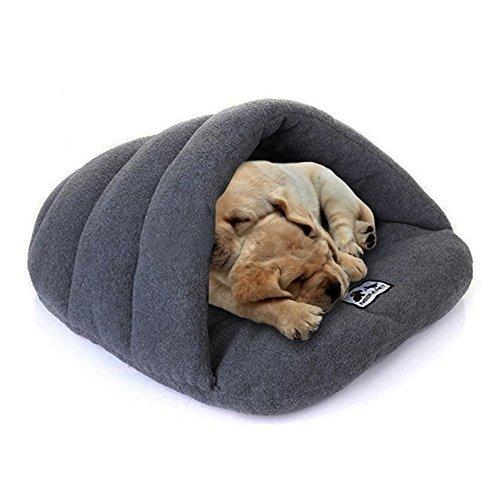 Soft-Warm-Pet-Dog-Cat-Bed-House-Plush-Cozy-Nest-Mat-Pad-Cushion-Pet-Cave-GrayXSSML