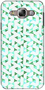 The Racoon Grip printed designer hard back mobile phone case cover for Samsung Galaxy E5. (Green Tria)
