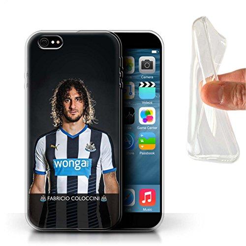 Officiel Newcastle United FC Coque / Etui Gel TPU pour Apple iPhone 6S+/Plus / Pack 25pcs Design / NUFC Joueur Football 15/16 Collection Coloccini