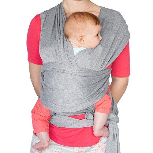 Imagen para Fular portabebés elástico para transportar a tú bebé – Pañuelo portabebé de algodón y lycra – Porta bebé para hombre y mujer en cinco colores