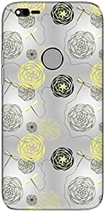 The Racoon Lean printed designer hard back mobile phone case cover for Google Pixel XL. (Yellow Dra)