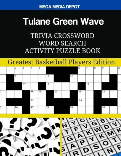 Tulane Green Wave Trivia Crossword Word Search Activity Puzzle Book