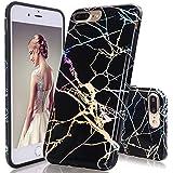 GopeE IPhone 7 Plus Case,iPhone 8 Plus Case, Marble Design Clear Bumper TPU Soft Case Rubber Silicone Skin Cover For IPhone 7 Plus (2016)/iPhone 8 Plus (2017) - B07H1GN3FS