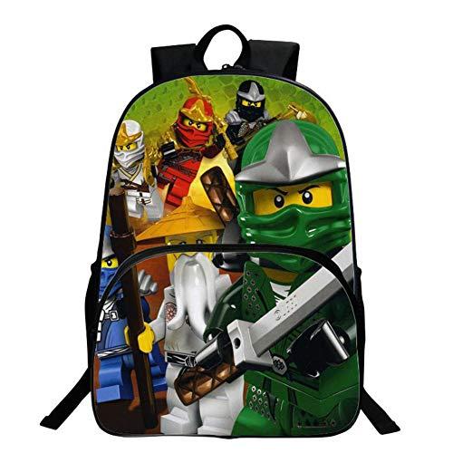 Mochila para Niños, Mochila Escolar Ninjago, Mochila De Dibujos Animados De Jardín De Infantes, Mochila...