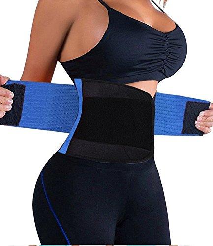 FOUMECH Damen Taille Trainer Belt-Waist Fördert Das Schwitzen Trimmer-Slimming Body Shaper Belt-Sport Girdle Gürtel, Damen, Blau, XX-Large(39.4