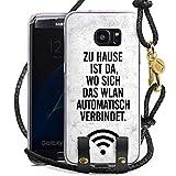 DeinDesign Samsung Galaxy S7 Edge Carry Case Hülle Zum Umhängen Handyhülle mit Kette WLAN Home Zuhause