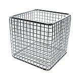 Laborshop24 -1002-10037 - Drahtkorb aus Edelstahl, eckige Form, elektrolytisch poliert (300x300x300 mm, MW 8x8x1,2 mm)