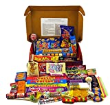 Bumper Retro Sweets Selection Luxury Red Gift Box With A Gold Bow; Crammed