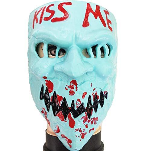 JNKDSGF HorrormaskePurge Mask Kostüm Kiss Me Horror Scary Halloween Schädel Erwachsenen Party Terror - Weibliche Kiss Kostüm