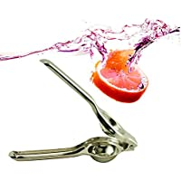 Denshine Kitchen Fruta del lim¨®n Exprimidor acero inoxidable Dise?o compacto y elegante, f¨¢cil de usar y limpiar.