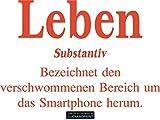 CLICKANDPRINT Aufkleber » Definition Leben, 70x47,7cm, Orangerot • Wandtattoo / Wandaufkleber / Wandsticker / Wanddeko / Vinyl