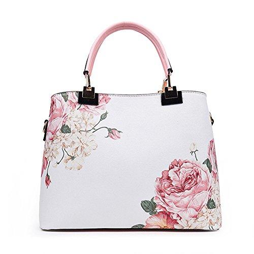 Meoaeo Il Nuovo Fiore Stampato Spalla Borsetta Fashion Gules Pink